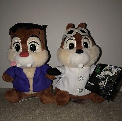 Disney Parks Halloween Chip & Dale Plush Set