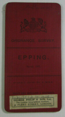 1903 Old Antique OS Ordnance Survey One-Inch Third Edition Map 240 Epping