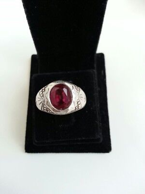 Alter Silberring Old Silver Ring  16.2mm, 7.37g.stone