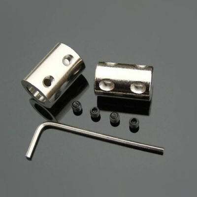 4mm - 10mm Cylindrical Coupling Shaft Motor Coupler 45 Steel Connector US A