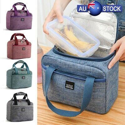 Kids/Adults Cool Bag Lunch Box Summer Winter Food Insulated School Office 5Color