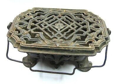 Antique French Cast Iron Foot Warmer