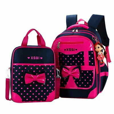 JiaYou Primary Girls Students Polyester School Backpack and Lunch Bag 2 Sets/3 S
