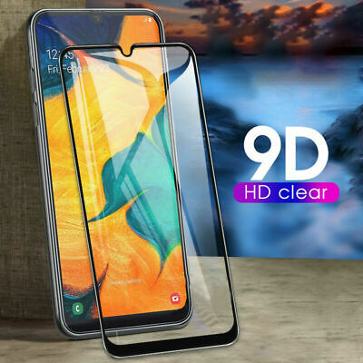 For Samsung Galaxy A20e A30 A40 A70  Full Cover Tempered Glass Curved Protector