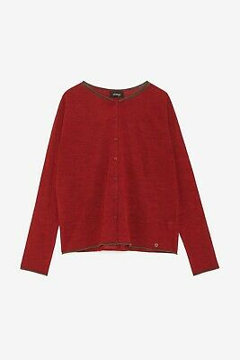 Ottod'Ame - Giacca donna cardigan con 1 bottone rosso mod:DG5230