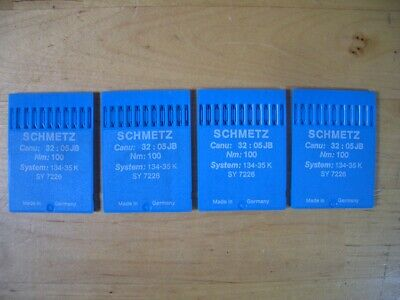 SCHMETZ Sewing Machine Needles CANU:32:05JB NM:100 SYSTEM:134-35 K SY 7226
