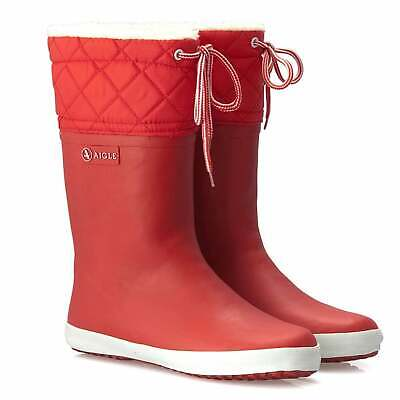 Aigle Kids Woody Pop Fleece Lined Wellies Cinabre RRP £40 Our Price £29.95
