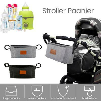 Pram Pushchair Stroller Accessories Buggy Organiser Mummy Bag Cup/Bottle Holder