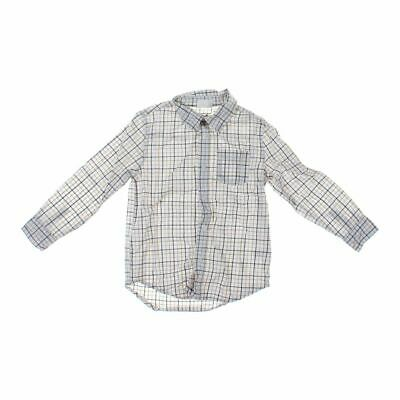 Crazy 8 Boys  Button-Up Long Sleeve Shirt, size 5/5T,  white, beige, grey