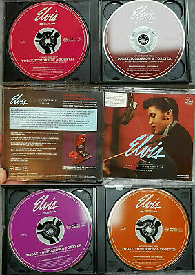Elvis Presley rares promo 4 cd box set Today tomorrow & forever USA 2002 release
