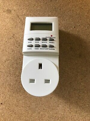 Masterclear Digital Electronic Plug-In Programmable Weekly Timer Switch Socket