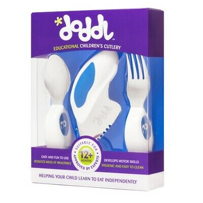 Doddl  Knife, Fork and Spoon Set Blueberry Blue