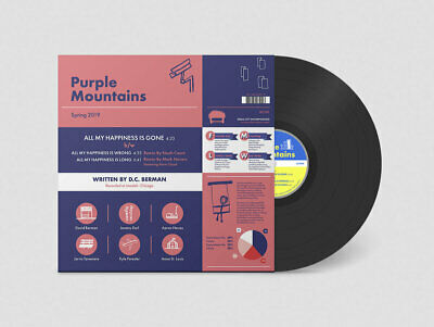 """Purple Mountains - All My Happiness is Gone // Vinyl 12"""" Single"""