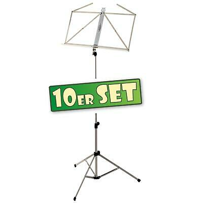 10x Heavy Duty Metal Nickel Foldable Music Stand Sheet Orchestral holder Tripod