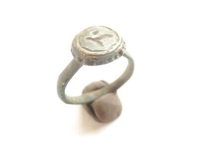 Ancient CELTIC Billon Ring with DRUID RUNIC Engraved - La Tene Culture 300 BC