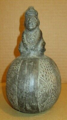 Small Figural Pottery  Jug- Pre Colombian?