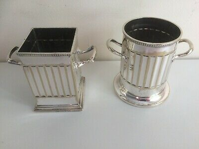 Pair of Antique Silver Plate Table Sauce Holders - F.C& Co.