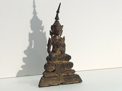 18th C Bronze Gilted Buddha Qing Thai Phra Ratana Qianlong Early