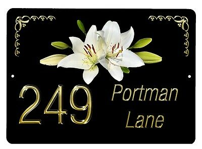 House,door name//number//road Plaque//sign//plate 7x5inch Aluminium Various Birds