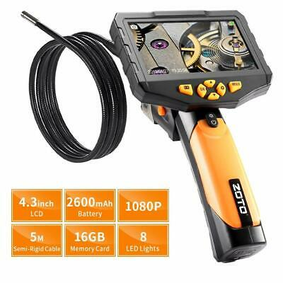 ZOTO Industrial Endoscope Handheld, 1080P Full HD 4.3 Inch LCD Inspection Camera