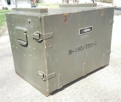 VTG WWII Field Desk UNITED STATES TRUNK US Military Signal Corps Army Steampunk