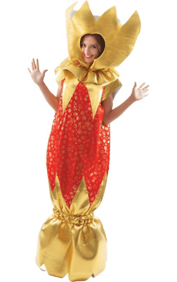 Giant Christmas Cracker Costume Red And Gold Xmas Novelty Fancy Dress