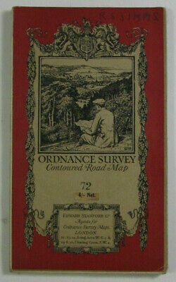1926 Old OS Ordnance Survey Popular Edition One-Inch Dissected Map 72 Birmingham