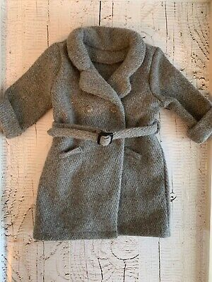 """American Girl Doll 18"""" Kit's Winter Coat Wool  Gray Retired - Coat Only Tagged"""