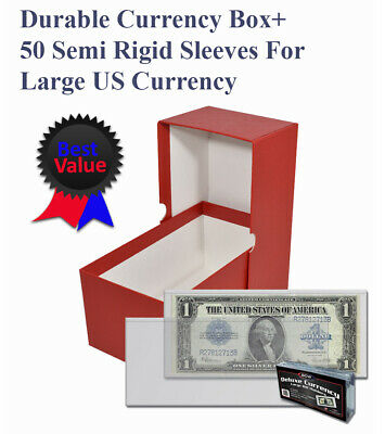 Guardhouse Large US Currency Red Storage Box for Older Bills