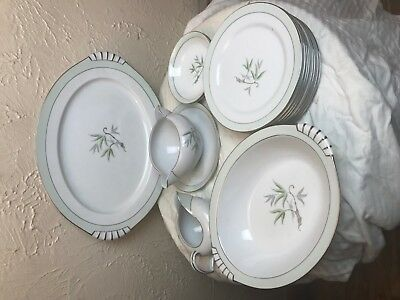"""Narumi SOUTHWIND 13"""" Oval Serving Platter, Plates Porcelain China made in Japan"""