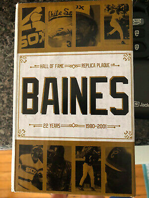 CHICAGO WHITE SOX Harold Baines Hall Of Fame 8/11/19 Replica Plaque
