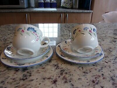 Royal Doulton English China Expressions Windermere Tea for Two Trio
