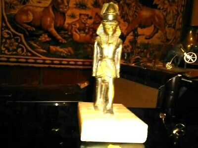 """""""ANTIQUE""""Copper statue of Pharaoh of ancient Egypt"""" VINTAGE"""""""