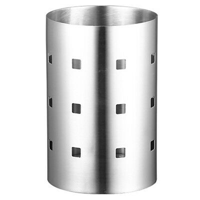 Thick Stainless Steel Square Hole Tableware Cage Chopsticks Tube Storage, L5C1