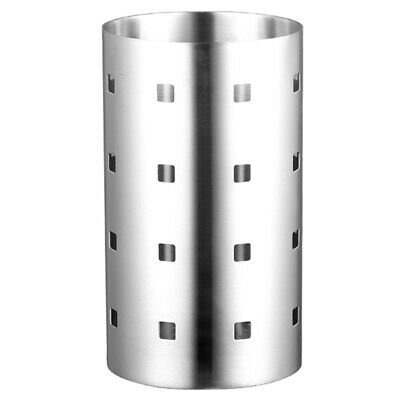Thick Stainless Steel Square Hole Tableware Cage Chopsticks Tube Storage, K8H5