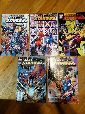 Who will Be The Last Hero Standing 1-5 full Set Marvel Comics 2005 spider-man