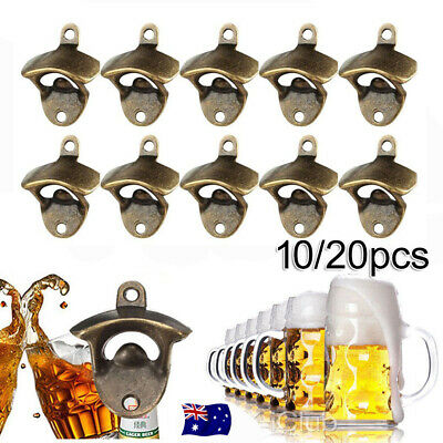 10/20X Rustic Style Cast Iron Wall Mounted Bottle Opener Cave Bar Beer Tools Top