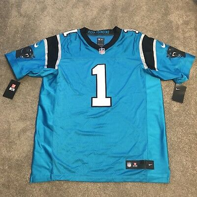 Nike Carolina Panthers Cam Newton #1 Player Issue Elite Jersey Size 48 XL $325