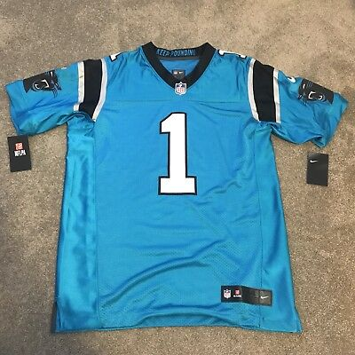 Nike Carolina Panthers Cam Newton #1 Player Issue Elite Jersey Size 44 Lrg $325