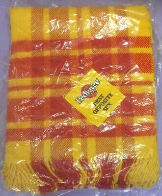 NEW Vintage Pedigree Chum Best Opposite Sex Dog Show Blanket 1980s Crate Bed BOS