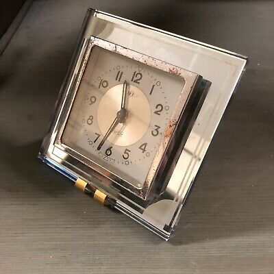 Dep Savoy Alarm Clock Antique Art Deco Modernist Design Adnet ne Working Not