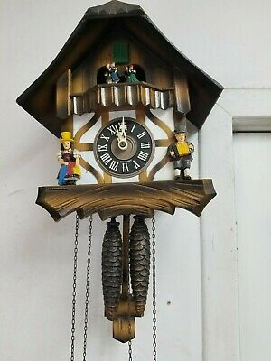 VINTAGE Cuendet Black Forest Swiss Musical Cuckoo Clock Made in Germany for PART