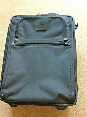 """TUMI Alpha Continental 20"""" Black 2 Wheel Carry On Suitcase 22021-DH GREAT SHAPE"""