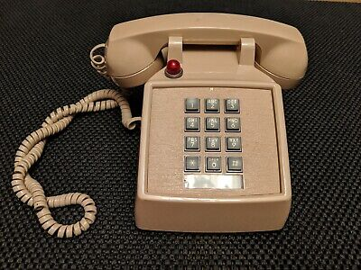 Vintage Telephone ITT Push Button Touch-Tone Desk Phone **Works Fantastically**