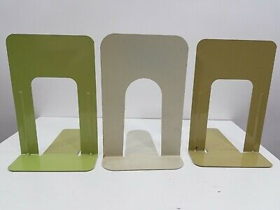 "Lot Of 10 Metal Bookends Mid Century Library Book Store 9"" Vintage Industrial"