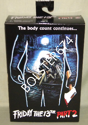 """JASON VOORHEES Friday the 13th Part 2  7"""" Scale Action Figure Neca"""
