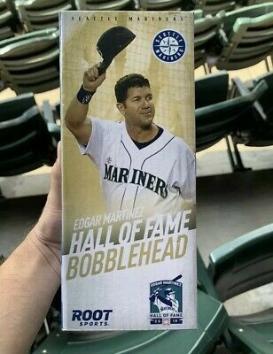 EDGAR MARTINEZ 2019 HALL OF FAME HoF BOBBLEHEAD SEATTLE MARINERS SGA 8/9/19 NEW