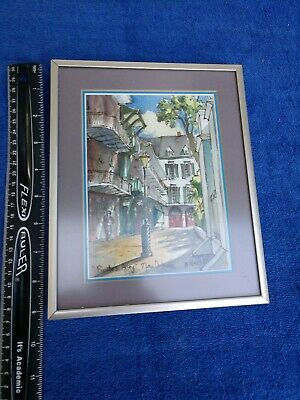 """9x7 """"Pirate Alley"""" Watercolor by Peggy Nead 1989 New Orleans"""