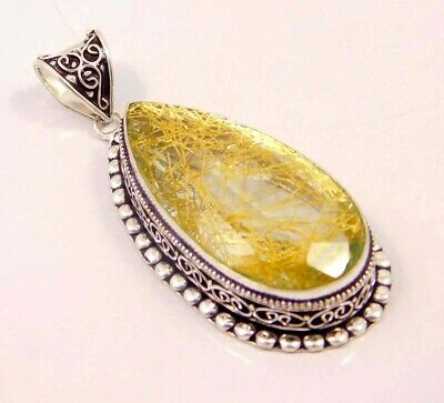 Golden Needle Rutlie .925 Silver Plated Hand Carving Pendant Jewelry JC6638
