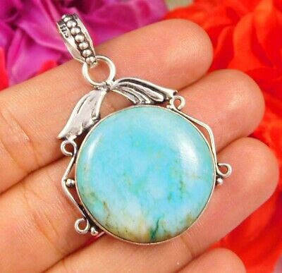 Dashing Turquoise .925 Silver Plated Handmade Pendant Jewelry JC2459